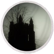 Castle Tower Round Beach Towel