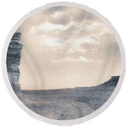 Round Beach Towel featuring the photograph Castles Of Wonder by Thomas Bomstad