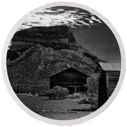 Castolon Ghost Town Round Beach Towel