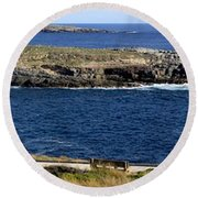 Round Beach Towel featuring the photograph Casuarina Islets by Stephen Mitchell