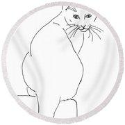 Cat-artwork-prints Round Beach Towel