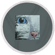 Cat Eye Round Beach Towel