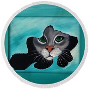 Cat-fish Round Beach Towel