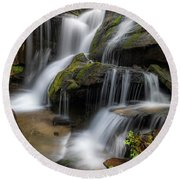 Cat Gap Loop Trail Waterfall Round Beach Towel