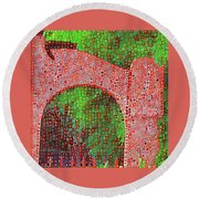 Cat On Enfield Round Beach Towel