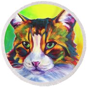 Cat - Tabby Round Beach Towel