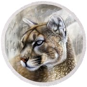 Catamount Round Beach Towel by Sandi Baker