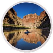 Cataract Canyon Round Beach Towel