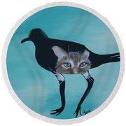 Catbird Round Beach Towel