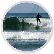Catch A Wave Round Beach Towel