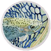 Catch And Release Round Beach Towel