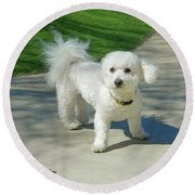 Catch Me If You Can Mommy Round Beach Towel