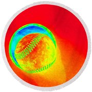 Heat Map Baseball Catch Me If You Can Round Beach Towel