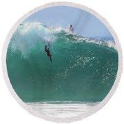 Catch Me Round Beach Towel by Joe Schofield