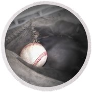 Round Beach Towel featuring the photograph Catch Me by Shana Rowe Jackson