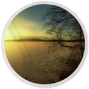 Catch The Light Round Beach Towel by Rose-Marie Karlsen