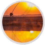 Round Beach Towel featuring the photograph Catch Your Dreams by Davorin Mance