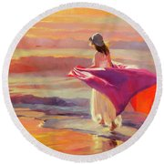 Catching The Breeze Round Beach Towel