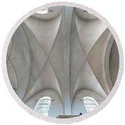 Catedral De La Purisima Concepcion Ceiling Round Beach Towel