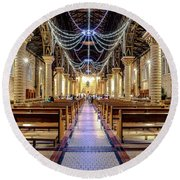 Catedral Pereira Round Beach Towel