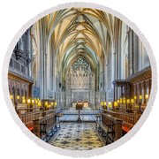 Cathedral Aisle Round Beach Towel