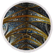 Cathedral Albi Round Beach Towel