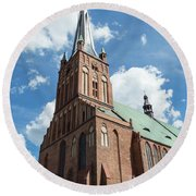 Cathedral Basilica Of St. James The Apostle, Szczecin A Round Beach Towel