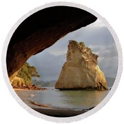 Cathedral Cove Round Beach Towel