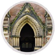 Cathedral Door Round Beach Towel