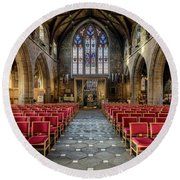 Cathedral Entrance Round Beach Towel