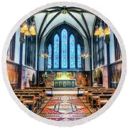 Cathedral Glow Round Beach Towel