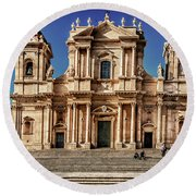 Cathedral II Round Beach Towel