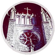 Cathedral In Archangel Glow Round Beach Towel