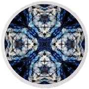 Cathedral In The Sky Round Beach Towel