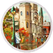 Cathedral Jazz Round Beach Towel