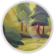Cathedral Light Round Beach Towel