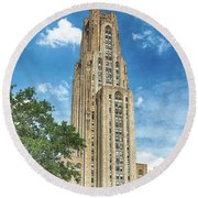Cathedral Of Learning Round Beach Towel