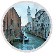 Cathedral Of San Giorgio Dei Greci Round Beach Towel