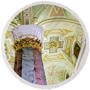 Cathedral Of Saints Peter And Paul Round Beach Towel