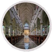 Cathedral Of St. John The Baptist Round Beach Towel
