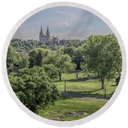 Cathedral Of St Joseph #2 Round Beach Towel