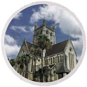 Cathedral Of The Most Holy Trinity Bermuda Round Beach Towel