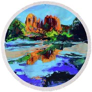 Cathedral Rock - Sedona Round Beach Towel