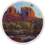 Cathedral Rock, Sedona Round Beach Towel