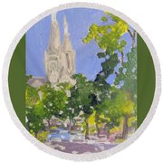 Cathedral Round Beach Towel by Rodger Ellingson