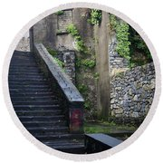 Cathedral Stairs Round Beach Towel