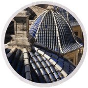 Cathedral Valencia Side Domes Round Beach Towel