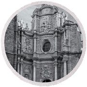 Round Beach Towel featuring the photograph Cathedral Valencia Spain by Joan Carroll