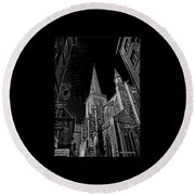 Round Beach Towel featuring the photograph Cathedrale St/. Vincent by Elf Evans
