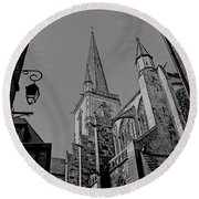 Round Beach Towel featuring the photograph Cathedrale St. Vincent  by Elf Evans